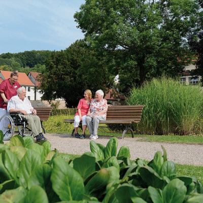 Spaziergang im Schlosspark Philippsthal